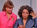 Oprah getting her ears pierced!