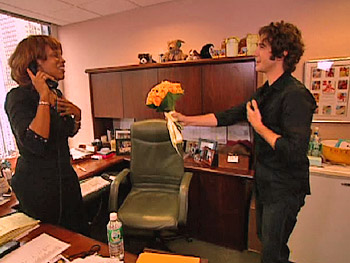 Josh Groban surprises Gayle King.