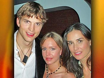 Ashton, Jordan and Demi