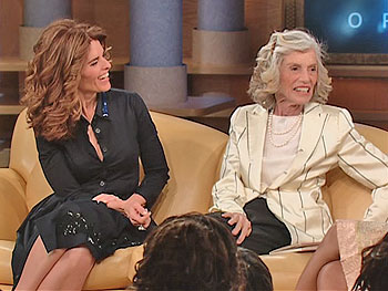 Maria Shriver and her mom Eunice Kennedy Shriver