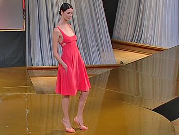 Lisa models a Narciso Rodriguez dress.