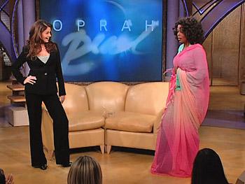 Aishwarya Rai dresses Oprah in a sari