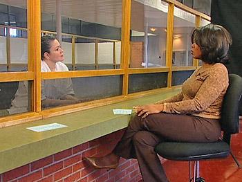 Clara Harris speaking with Oprah