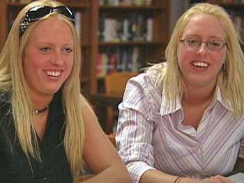 Twin sisters Britney and Bethany