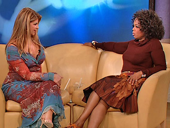 Kirstie Alley and Oprah