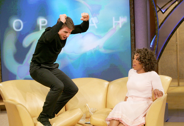 Tom Cruise jumps for joy!