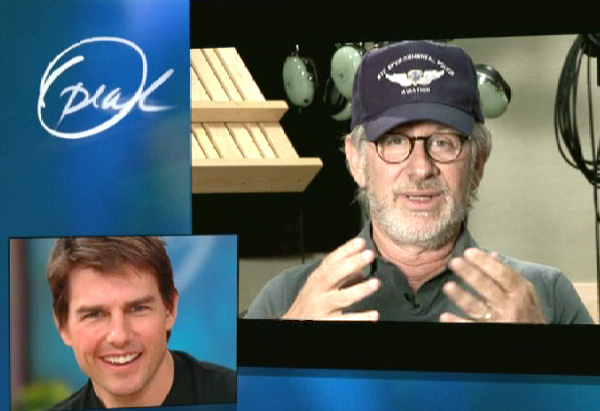 Steven Spielberg and Tom Cruise