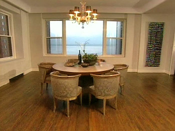 Nate Berkus's concrete dining room table