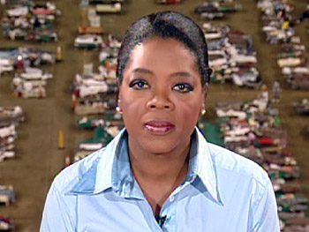 Oprah, at the Astrodome