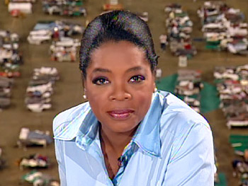 Oprah reacts to the Katrina catastrophe.