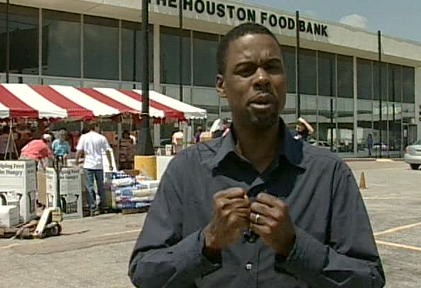 Chris Rock on location in Houston