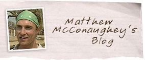 Read Matthew McConaughey's exclusive journal