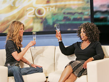 Jennifer Aniston and Oprah