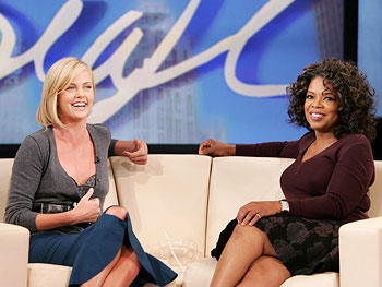 Oprah and Charlize Theron