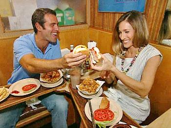 Sarah Jessica Parker at Prime Burger