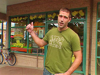 Matthew Fox at Lanikai Juice
