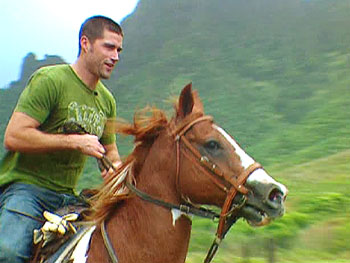 Matthew Fox in Kualoa Valley