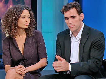 Thandie Newton and Matt Dillon, stars of 'Crash'
