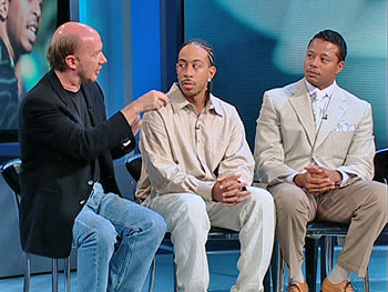 Paul Haggis, Chris 'Ludacris' Bridges and Terrence Howard