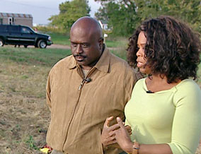 Oprah and Jon Dyson, Mayor of Pembroke, Illinois