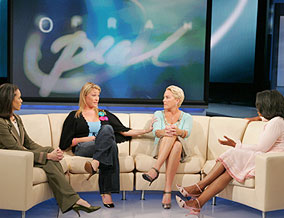 Oprah, Dr. Robin Smith, Kathy and Jessica