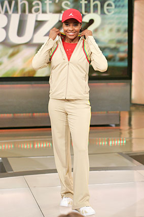 Tan sweatsuit from the Jordan Women's Collection
