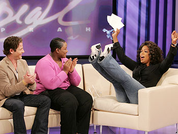 Nate, Bernadette and Oprah