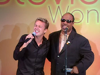 Stevie Wonder surprises his biggest fan