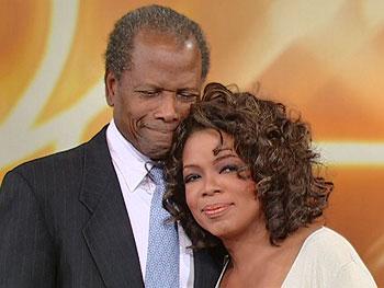 Sidney Poitier surprises Oprah.