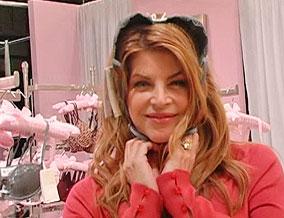 Kirstie Alley's 'bunny earmuffs'
