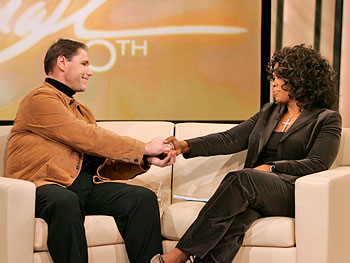 David and Oprah talk about their moment of connection