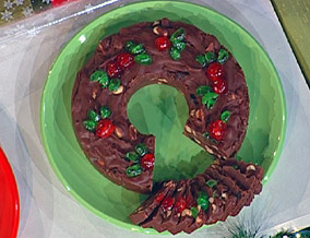The five-minute fudge wreath