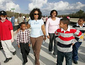 Oprah and the kids of Angel Lane