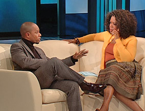 Kirk Franklin and Oprah Winfrey