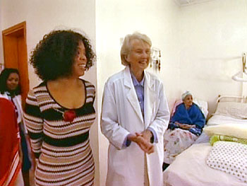 Oprah and recovering patients at the Fistula Hospital