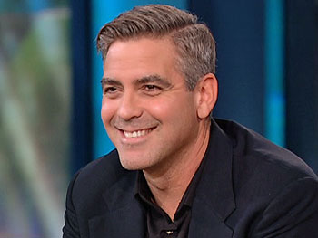 George Clooney fields questions from fans
