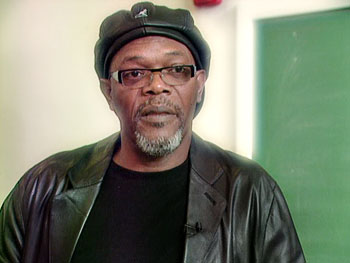 Samuel L. Jackson motivates young students.