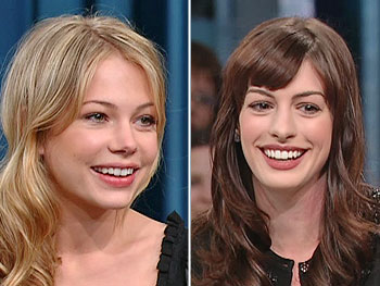 Michelle Williams and Anne Hathaway