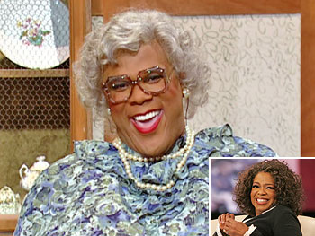 Oprah and Tyler Perry as Madea