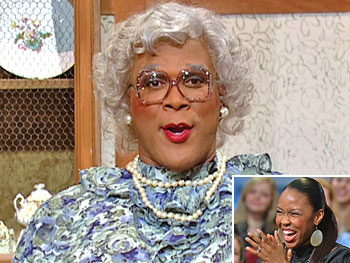 Brianna and Tyler Perry as Madea