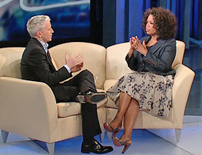 Anderson Cooper and Oprah Winfrey