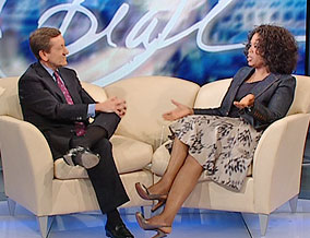 Brian Ross and Oprah Winfrey