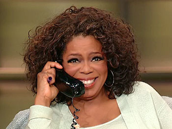 Oprah takes a call