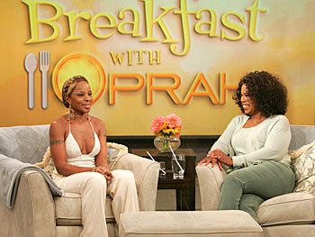 Mary J. Blige and Oprah