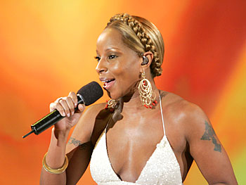 Mary J. Blige performs.