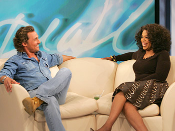 Matthew McConaughey and Oprah Winfrey