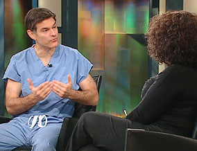 Dr. Mehmet Oz and Oprah Winfrey