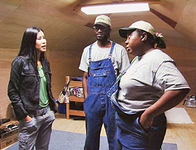 Lisa Ling with Ginger and Ben Robinson, residents of 'Tent City'