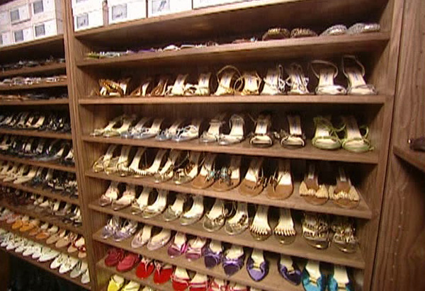 Tamara's dream shoe closet