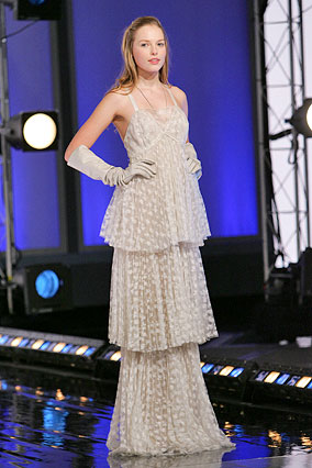 Marc Jacobs Collection white lace gown
